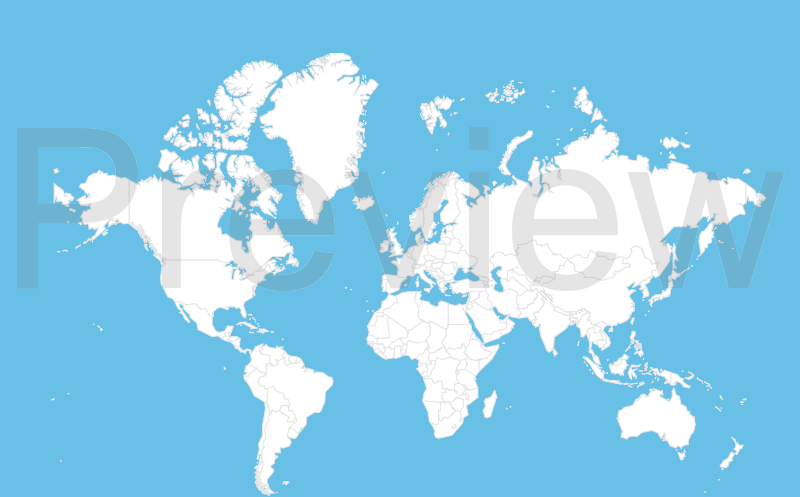 Customizable world map maker world map white and blue gumiabroncs Choice Image